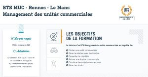 BAC +2 management des unités commerciales Le Mans