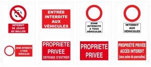 panneau parking handicapé