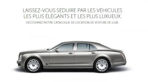 Location voiture de luxe Paris